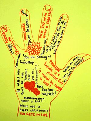 Post-donate-Mzansi-Cymru-Hand-art